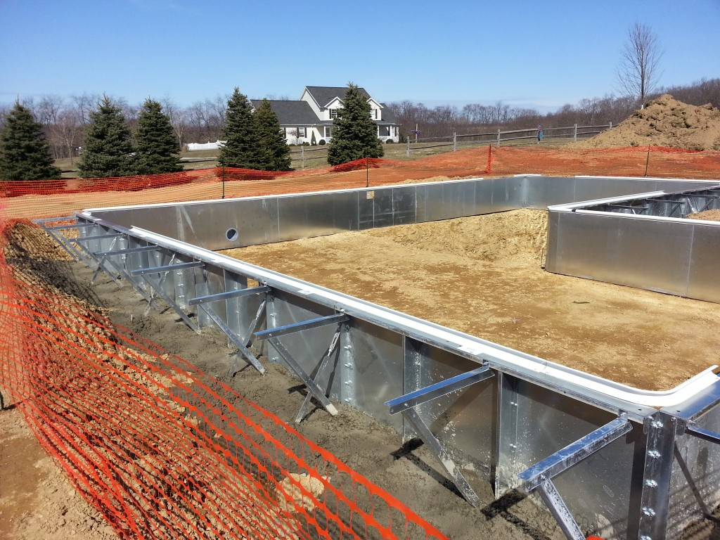 Footer is poured