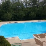 This is a pool that we service on a weekly basis.  We offer  weekly and bi-weekly pool maintenance packages.  Pool maintenance consists of testing and balancing chemicals, cleaning baskets,  checking filtration system operation and backwashing/cleaning filter if needed, sweeping pool, brushing walls, and netting the water. Please contact us at 724-897-7386 or email us at info@all-propools.com if you would like more information on our pool maintenance packages.