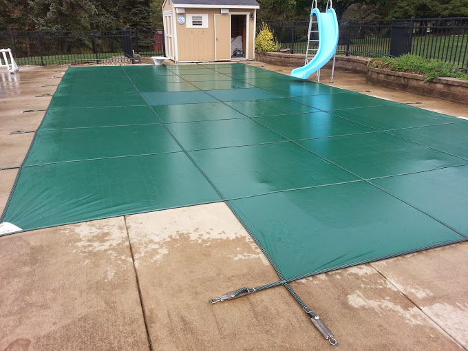 Solid safety cover installation
